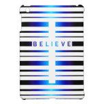 Vega Blue Believe Cross Stripes iPad Mini Case