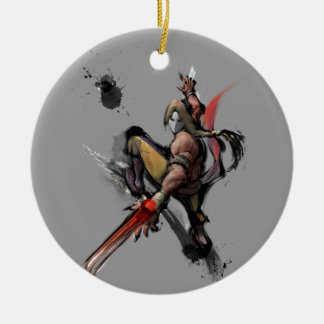 Vega Claw Double-Sided Ceramic Round Christmas Ornament