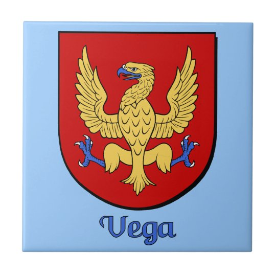 Vega Family Shield DecorativeTile Tile