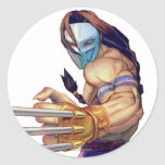 Vega With Claws Classic Round Sticker