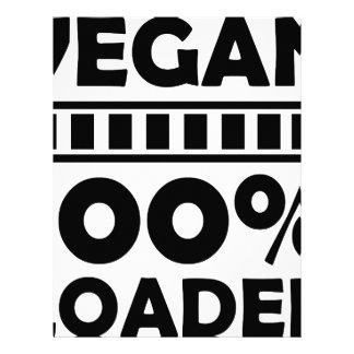 vegan 100% loaded letterhead
