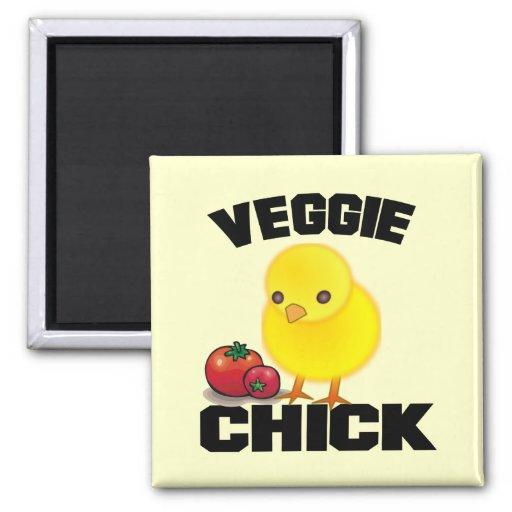 Vegan 2 Inch Square Magnet