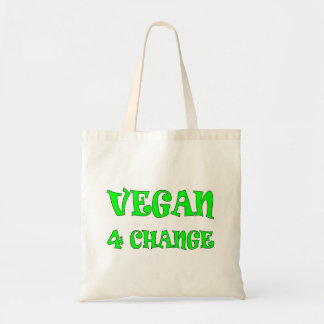 Vegan 4 Change Green Text Tote Bag