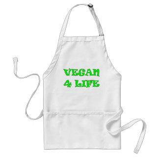 Vegan 4 Life Green Text Apron