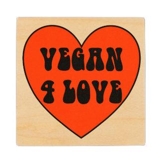 Vegan 4 Love Wood Coaster