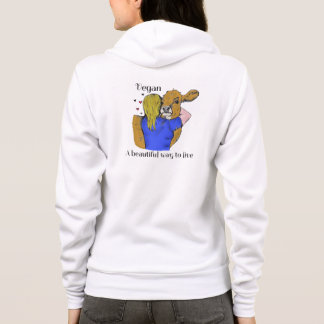Vegan A beautiful way to live Hoodie Sweatshirt