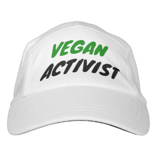 Vegan activist headsweats hat