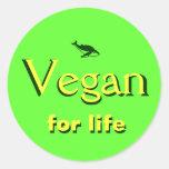 Vegan ad classic round sticker