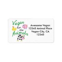 Vegan Address Label with Animals