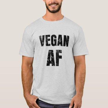 Beach Themed Vegan AF Funny saying men's T-shirt