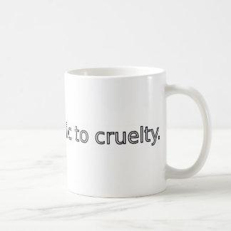 Vegan - Allergic to Cruelty Coffee Mug