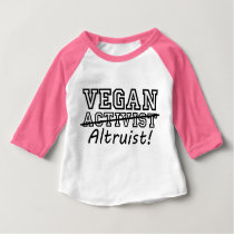 VEGAN Altruist (blk) Baby T-Shirt