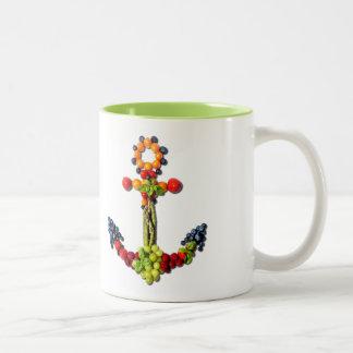 VEGAN ANCHOR Two-Tone COFFEE MUG
