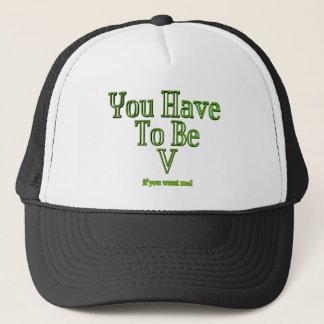 Vegan and Vegetarian statement Trucker Hat