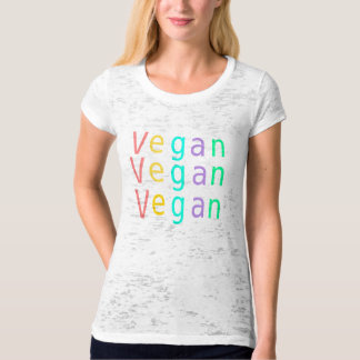 Vegan. Animal rights. Multi colored. T-shirt. T-Shirt