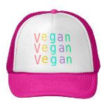 Vegan. animal rights. trucker hat. hot pink.