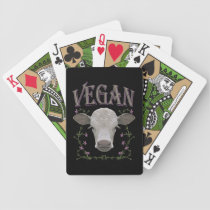 Vegan - animals want to live bicycle playing cards