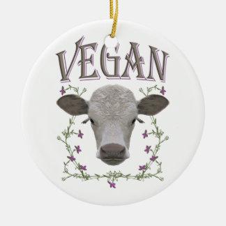 Vegan - animals want to live ceramic ornament