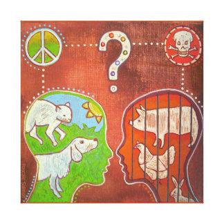 vegan anti speciesism canvas print