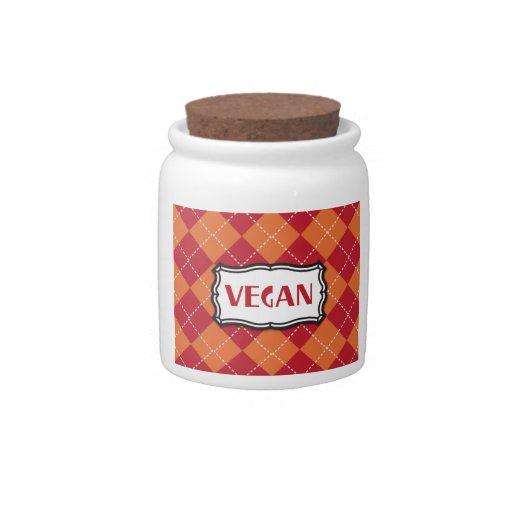 Vegan Argyle Pattern Candy Jars