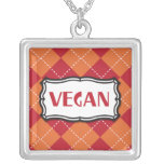 Vegan Argyle Pattern Necklace