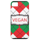 Vegan Argyle Red and Green iPhone 5 Cover