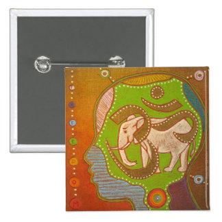 Vegan Aum elephant swipes in Button