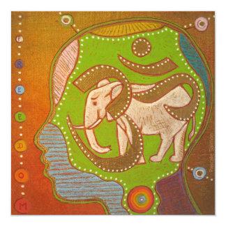vegan Aum 5.25x5.25 Square Paper Invitation Card