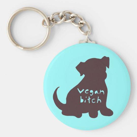 Vegan B*tch (brown) Key Chain
