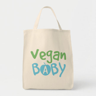 Vegan Baby Boy Organic Grocery Tote Bag