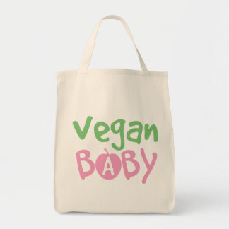 Vegan Baby Girl Organic Grocery Tote Bag