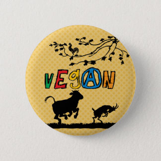 Vegan badge button