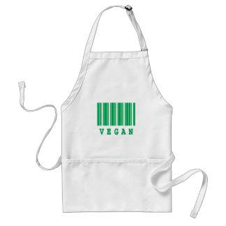 vegan barcode design aprons