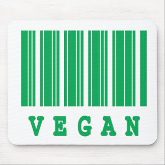 vegan barcode design mouse pad
