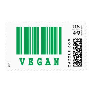 vegan barcode design postage stamp