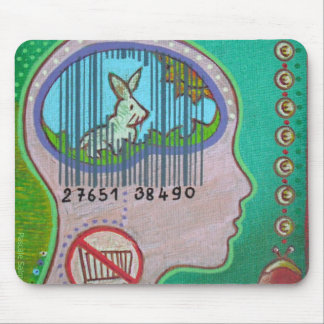 Vegan barcode mouse pad