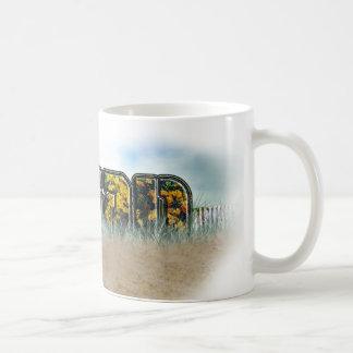 Vegan Beach Flowers Coffee Mug