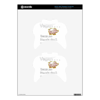 Vegan - Because Friends Don't Eat Friends Xbox 360 Controller Decal