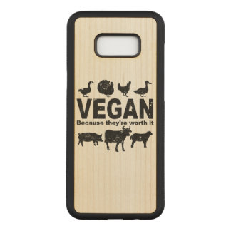 VEGAN because they're worth it (blk) Carved Samsung Galaxy S8+ Case