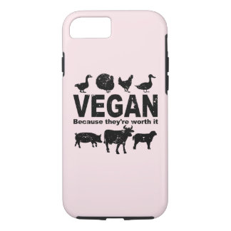 VEGAN because they're worth it (blk) iPhone 8/7 Case