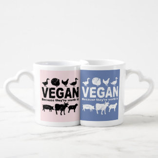 VEGAN because they're worth it Coffee Mug Set