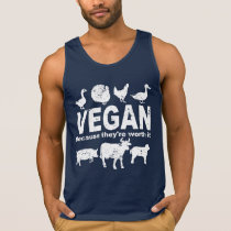 VEGAN because they're worth it (wht) Tank Top