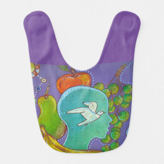 Vegan bird baby bib