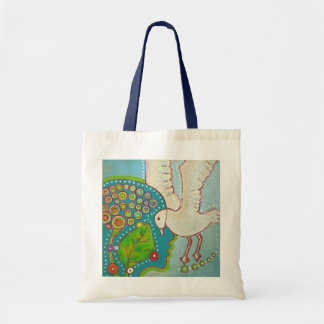 vegan bird connection tote bag