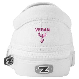 Vegan Bird Design Slip-On Sneakers