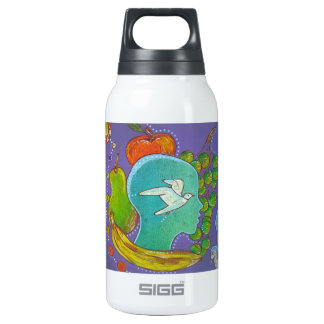 Vegan bird freedom fruits thermos bottle
