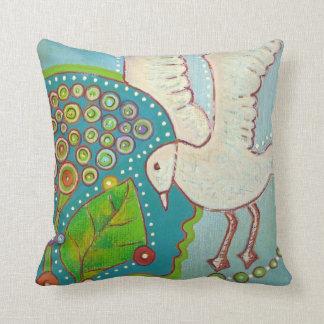 vegan bird throw pillow
