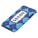 Vegan (Blue Argyle Pattern) iPod Touch Case-Mate Case