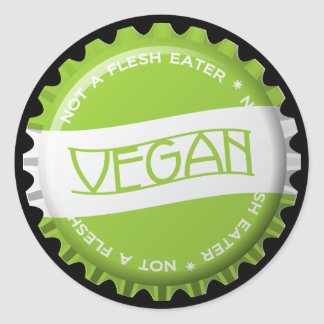 Vegan Bottlecap Sticker