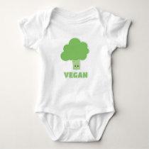 Vegan Broccoli Baby Bodysuit